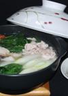 豚肉と海鮮と野菜の常夜鍋風♪