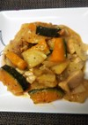 大根×鶏カボチャのみりんマスタード炒め