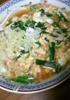 名古屋の卵とじラーメンの真似、寒い夜に