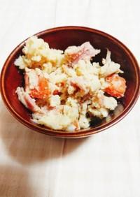 舞茸とベーコンの和風ポテトサラダ