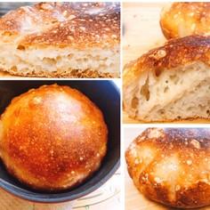 鍋一つで混ぜるだけ超簡単ズボラ高加水パン