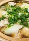 鶏もも肉と白菜&長ネギの赤味噌煮込み鍋
