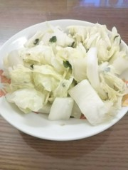 白菜のわかめスープ合えの写真