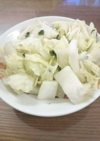 白菜のわかめスープ合え
