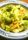 アボカド、オリーブ、生胡桃のポテトサラダ