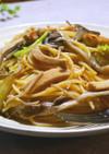 高野豆腐と舞茸のヴィーガンスパゲッティ