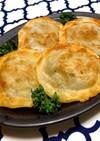 ●ニラ・白菜入り〜丸い焼き餃子●