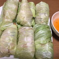 巻くだけ!レタスの野菜巻きサラダ♪