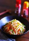 もやしと彩り野菜のピリ辛さっぱりナムル