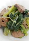 やわらか食:レバーと小松菜のごま油和え