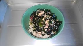 ツナと海藻の簡単ヘルシー海鮮丼
