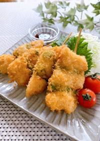 鶏胸肉とアスパラの簡単★サクサク串揚げ