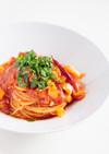 鯛と貝柱のフェデリーニ・トマトソース