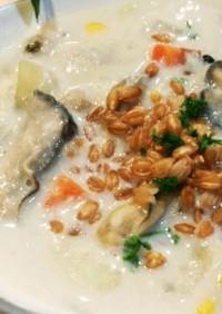 野菜たっぷり 牡蠣のチャウダー