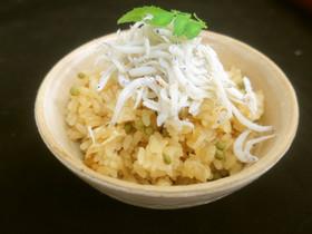 実山椒と釜揚げチリメンの炊き込みご飯