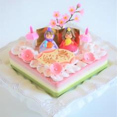 * ひな祭り ♡ 菱餅のチーズケーキ♪