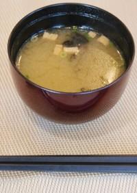 牡蠣風味のお味噌汁