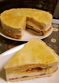 レモンたっぷりレモンのレアチーズケーキ♡