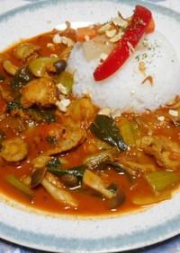 ホタテとチンゲン菜のスパイスカレー