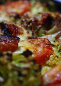 簡単熱々チーズ焼きサラダ