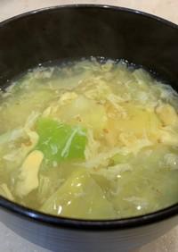 中途半端なキャベツで作る暖か卵スープ