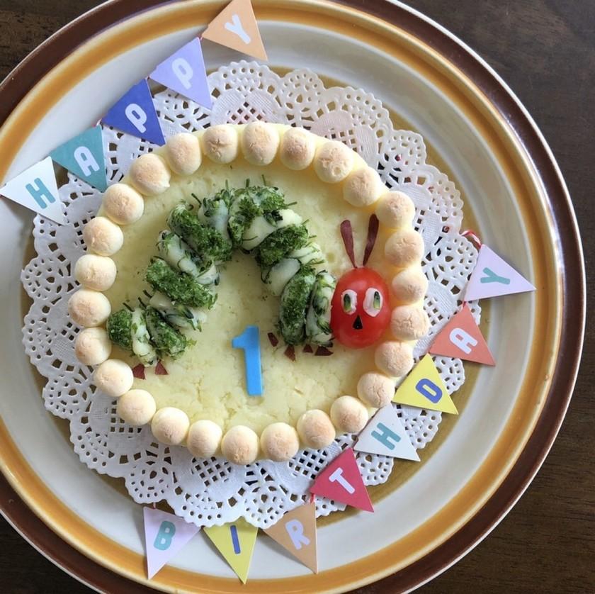 1歳の誕生日に♡皆で食べれるポテトケーキ