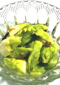 美味しい蕾菜のピクルス(昆布入り)