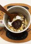 乾燥椎茸と卵のスープ(レンジ調理)