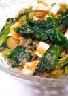 小松菜とゆで卵の明太子和え