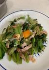 小松菜とベーコンの巣ごもり焼き