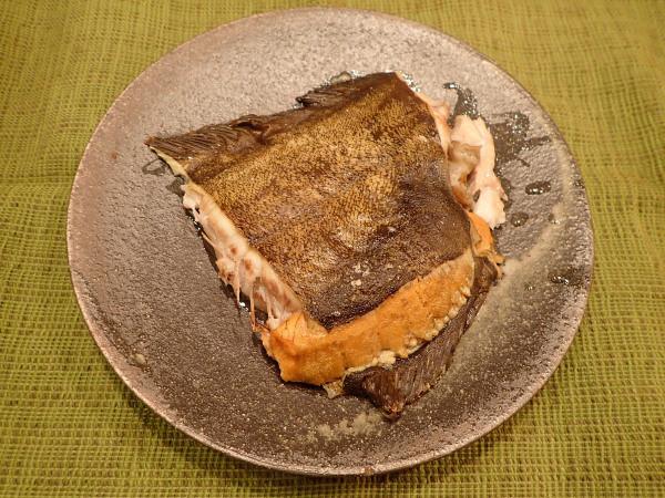 ババガレイの塩焼き
