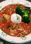 トマト缶で❗水炊き鍋の余りをトマト鍋に☺