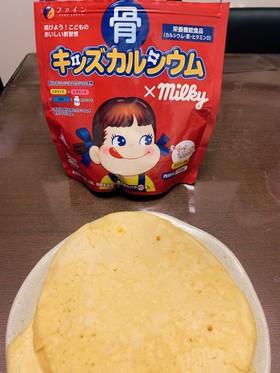 ミルキー味のホットケーキ
