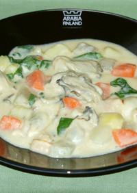牡蠣と野菜と豆乳のとろーりチャウダー風♪