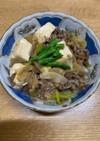 牛薄切り肉ですき焼き風煮物