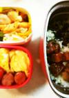 タンパク質多めお弁当㉔鶏バーグと鮪の角煮