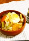 野菜たっぷりキャベツとたまご食べる味噌汁