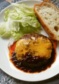 チーズハンバーグ♪