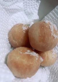 余ったパン粉と卵のドーナツ