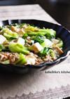 チンゲン菜と豆腐の中華そぼろあんかけ