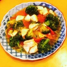 【ダイエット】鶏肉とブロッコリーの中華煮