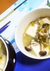 豚ミンチで豆腐と長ネギたっぷり味噌汁
