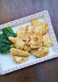 お弁当に♪簡単!鶏むね肉の麺つゆマヨ焼き