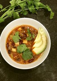 満腹レシピ、ベジタリアンチリスープ