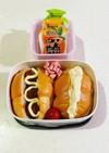市販品で簡単♪ロールパンサンドイッチ。