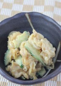 ミミガ—のピーナッツ味噌和え