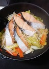 塩鮭のフライパン蒸し