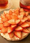 ヨーグルトを使った苺レアチーズケーキ