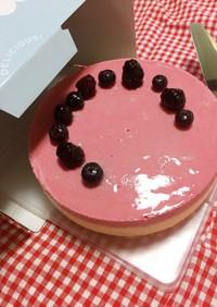 ラズベリーとバニラのムースケーキ