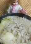 リカちゃん♡キャベツと豚バラの和スープ